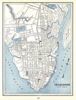Vintage Map of Charleston South Carolina (1898)