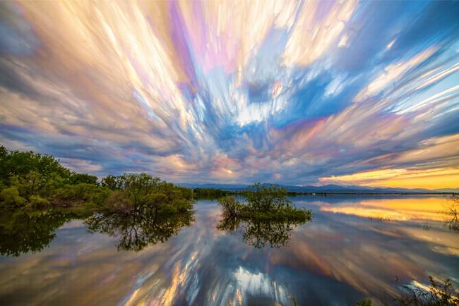 Sunset  Lake Reflections Timed Stack