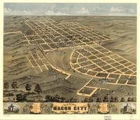 Vintage Map of Macon City Georgia (1869)