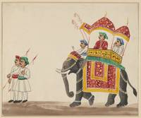 Decorated Indian Elephant with a Canopied Howdah
