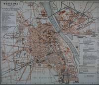 Vintage Map of Warsaw Poland (1914)