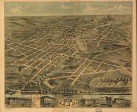 Vintage Pictorial Map of Akron Ohio (1870)