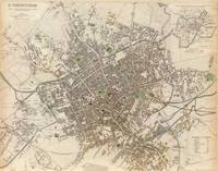 Vintage Map of Birmingham England (1839)
