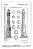 Vintage Bodie Island Lighthouse Diagram