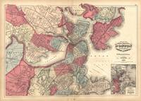 Vintage Map of Boston Massachusetts (1871)