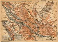 Vintage Map of Bremen Germany (1910)