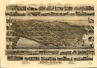 Vintage Pictorial Map of Bristol RI (1891)