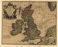 Vintage Map of The British Isles (1700s)