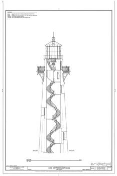 Vintage cape hatteras lighthouse blueprint 2 by alleycatshirts zazzle malvernweather Image collections