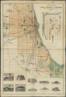 Vintage Map of Chicago Illinois (1889)