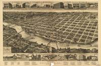 Vintage Pictorial Map of Columbus Georgia (1886)