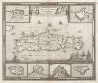 Vintage Map of Crete Greece (1680)