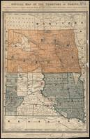 Vintage Map of North and South Dakota (1886)