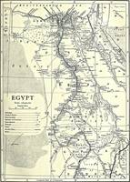 Vintage Map of Egypt (1911)