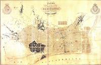 Vintage Map of Barcelona Spain (1859)