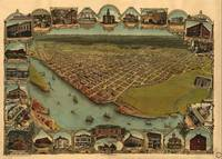 Vintage Pictorial Map of Eureka California (1902)