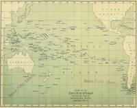 Vintage Map of The Pacific Ocean (1874)