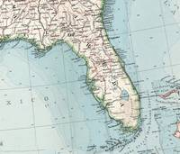 Vintage Map of Florida (1900)