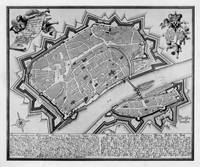 Vintage Map of Frankfurt Germany (1738)