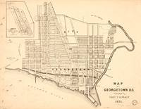 Vintage Map of Georgetown (Washington D.C.) 1876