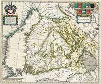 Vintage Map of Finland (1662)