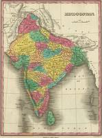 Vintage Map of India (1831)