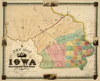 Vintage Map of Iowa (1845)