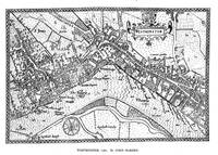 Vintage Map of Westminster (1593)