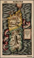 Vintage Map of Sardinia Italy (16th Century)