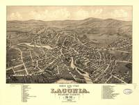 Vintage Pictorial Map of Laconia NH (1883)