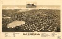 Vintage Pictorial Map of Lake City Florida (1885)