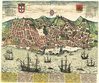 Vintage Map of Lisbon Portugal (1598)
