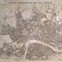 """Vintage Map of London England (1845)"" by Alleycatshirts"