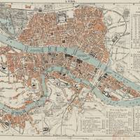 """Vintage Map of Lyon France (1888)"" by Alleycatshirts"