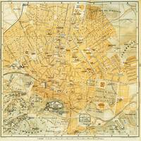 Vintage Map of Athens Greece (1894)