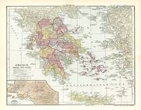 Vintage Map of Greece (1903) 2