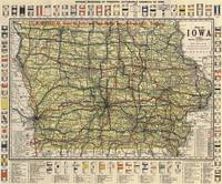 Vintage Iowa Automobile Map (1919)