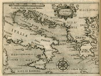 Vintage Map of Italy and Greece (1587) by Alleycatshirts @Zazzle