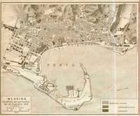 Vintage Map of Messina Italy (1900)