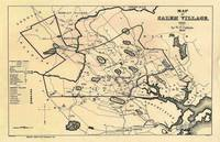 Vintage 1692 Map of Salem Massachusetts (1866)