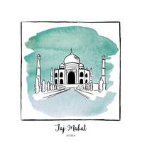 Taj Mahal Brushstroke Buildings