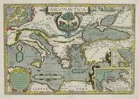 Vintage Map of The Mediterranean Sea (1608)