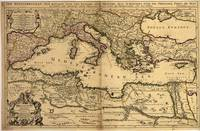 Vintage Map of The Mediterranean Sea (1685)