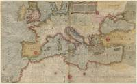 Vintage Map of Europe and The Mediterranean (1569)