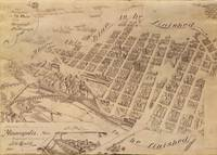Vintage Map of Minneapolis MN (1891) 2