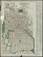 Vintage Map of Minneapolis Minnesota (1921)