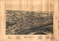 Vintage Pictorial Map of Mohawk New York (1893)