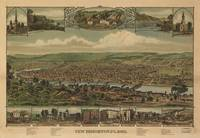 Vintage Pictorial Map of New Brighton PA (1883)