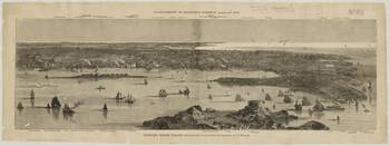 Vintage Pictorial Map of Newport RI (1873)