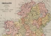Vintage Map of Northern Ireland (1883)